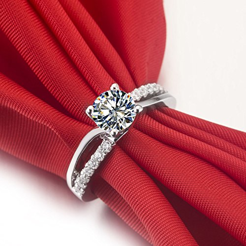 LeonoBelt Shape Alloy Silver Rings for Women Wedding Engagement Ring Jewelry Souvenir Gifts