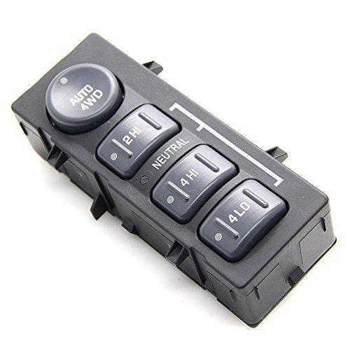 4 Wheel Drive Selector Switch 4WD Transfer Case Switch - Replaces 15709327, 19168767 - Fits Chevy Silverado 1500, 2500HD Suburban, Avalanche, GMC Sierra 1500, 2500, Yukon (A)