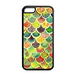 5C Phone Cases, Colorful Mermaid Skin Hard TPU Rubber Cover Case for iPhone 5C
