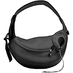 Crazy Paws Pet Sling Large Black