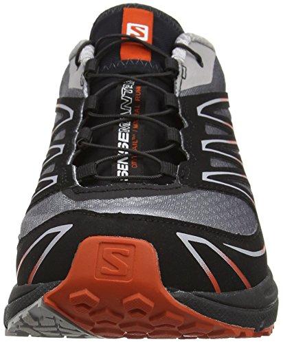 Salomon L38156200, Zapatillas de Trail Running para Hombre Plateado (Aluminium /     Black /     Solar Orange)