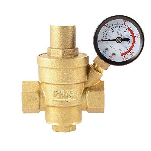 Water Pressure Regulator Adjustable 1/2