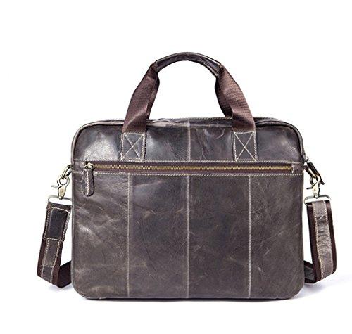 Capacity Sucastle 3 Shoulder Men's Leather Bags Design Messenger 2 Vintage Briefcases Large BBUSqpw