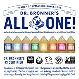 Dr. Bronner's - Pure-Castile Liquid Soap (Rose, 1 Gallon) - Made with Organic Oils, 18-in-1 Uses: Face, Body, Hair, Laundry, Pets and Dishes, Concentrated, Vegan, Non-GMO