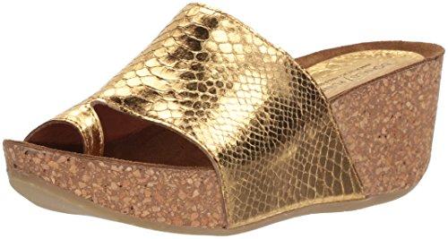 Donald J Pliner Women's Ginie Slide Sandal, Gold, 7.5 Medium US by Donald J Pliner