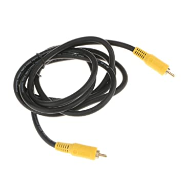 MagiDeal 75 Ohm Coaxial Rca Av Audio Video Cable Proyector Tv Cable Macho A Macho Herramientas