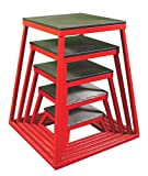 Ader Plyometric Platform Box Set- 6'', 12'', 18'', 24'', 30'' Red