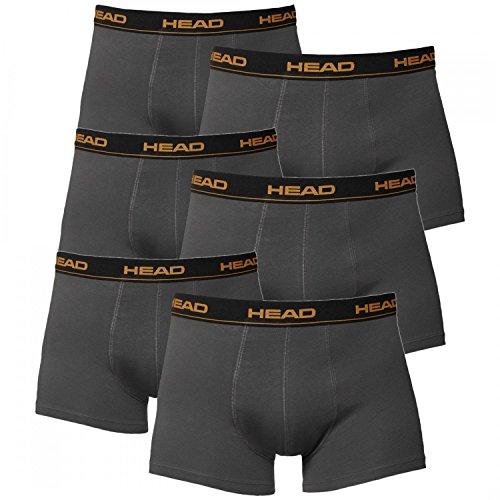 Head uomo boxer intimo (pacco da 6 pezzi) - dark shadow, cotone, XL