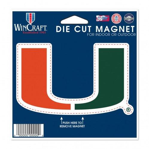 WinCraft NCAA University of Miami (Florida) Die Cut Magnet, 4.5