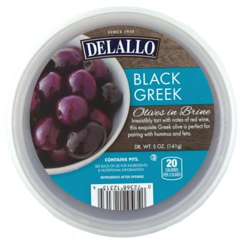 Black Greek Olives, 5 oz. (6 pack) by DeLallo