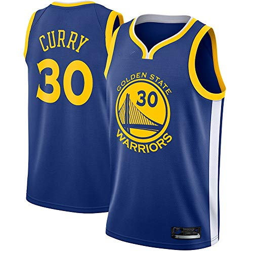(Youth_Stephen_Curry_Fanatics Royal Fast Break Replica Jersey - Icon Edition (Youth S))
