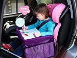 MuStone Child travel tray Children Snack, Kids Waterproof Travel Tray Car Organiser for Baby Car Seats Play,Learn,Activity,Train,Plane,Indoor& Outdoors Journeys ,Travel Tray (Purple)