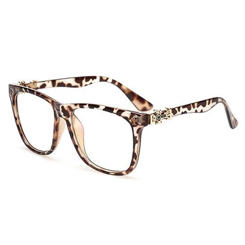 hibote Hombres Mujeres lente clara Geek / Nerd Retro Gafas #Xier