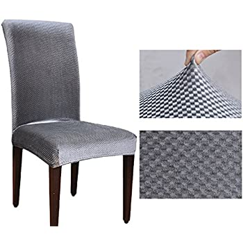 JAKY Global Solid Color Jacquard Stretch Dining Room Elastic Force Chair Slipcovers Polyester Fiber4