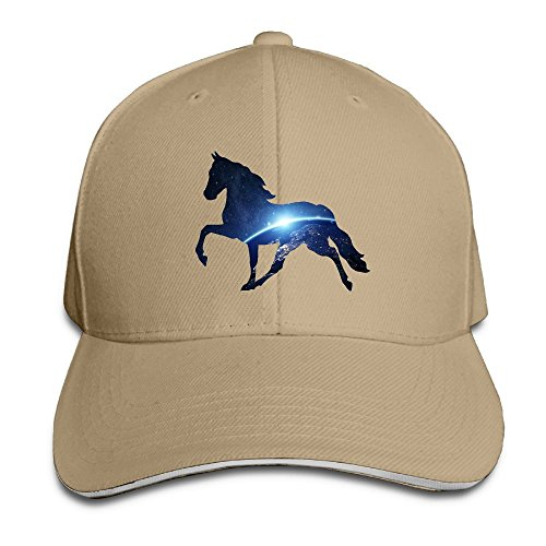 KJDS Adult Unisex Galaxy Horse Cap with Adjustable Washed Cap Sandwich Caps for Mens& Woman ()