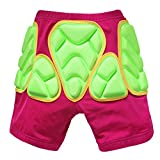 Evelin LEE Kids Protective EVA Padded Hip Shorts Ski Skate Knee Pad Gear Pant (Pink Shorts, XXXS)