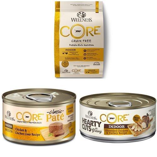 Wellness Protein Pack - Indoor: CORE Indoor Dry Cat, CORE Indoor Pate, CORE Indoor Hearty Cuts