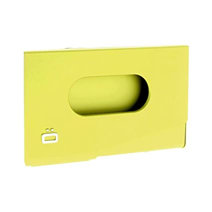 Amazon ogon one touch business card holder lime green sports ogon one touch business card holder lime green reheart Gallery