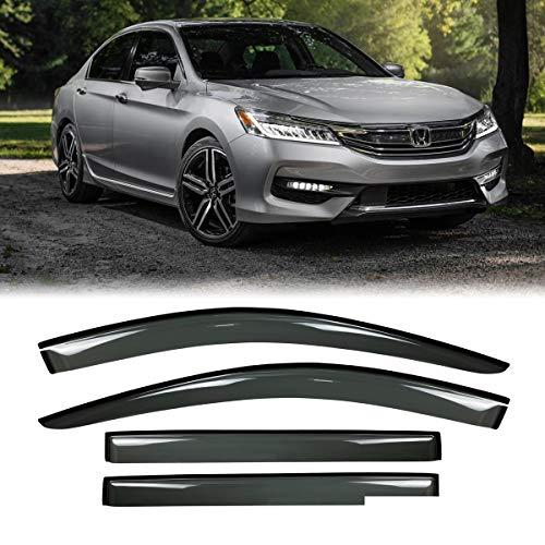 2015 Honda Accord 4 Doors - MGPRO 4pcs Driver+Passenger Side Sun/Rain Guard Vent Shade Window Visors For 2013-2017 Honda Accord Sedan 4-Door 4D