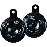 HELLA 011225802 Black 77mm 12V BX Disc Horn Kit (Universal Fit)