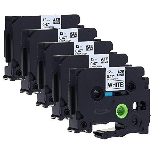 TZE-N231 Brother P-Touch D 200 VP - original P-Touch schwarz auf wei/ß 12mm x 8m