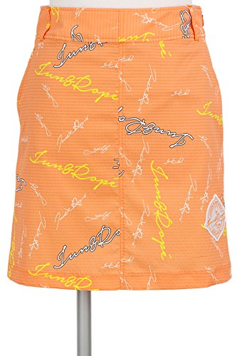 Aラインスカート レディース ジュン&ロペ JUN&ROPE 2018 春夏 ゴルフウェア S(S) オレンジ(70) erc1806