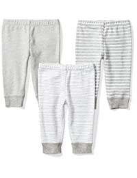 Moon and Back Unisex-Baby Infant Set of 3 Organic Pants