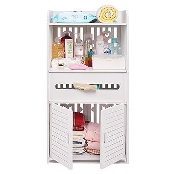 aimu - Armarios de baño Impermeables de 2 Puertas, Muebles para baño y Inodoro, Color Blanco: Amazon.es: Juguetes y juegos
