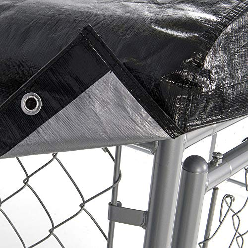Dog Kennel Cover - WeatherGuard Medium All Season Dog Run Cover & Roof - Perfect Fit for Lucky Dog 5ft. X 10ft. Outdoor Cages and Pens (5ft. X 10ft)