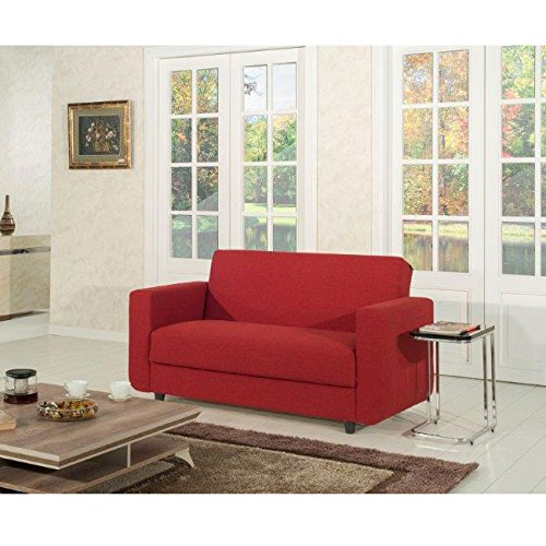 Divano letto 2 posti tessuto in poliestere rosso 156x80xh81 cm shop online divani - Divano letto 2 posti amazon ...