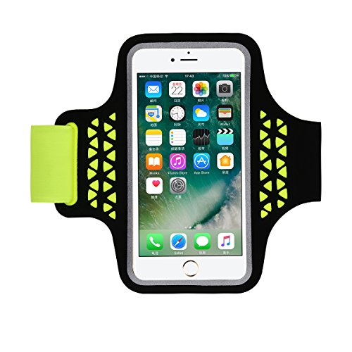 iPhone 7 Armband Case, HAISSKY Sports Running Armbands for Samsung Galaxy S7 S6 S6 Edge S5 S4 4.7 - 5.2 Inch Smartphone Arm Band Case for Fitness Running Walking Workout for Wen / Women (Green)