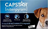 Capstar Flea Tablets for Dogs and Cats, 6 Count, 2-25 lbs, Blue