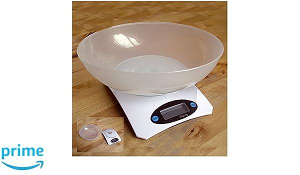 ElectroDH 93030 DH BALANZA DE Cocina Digital con Bol Blanca: Amazon.es: Bricolaje y herramientas