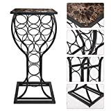 Kings Brand Furniture Metal with Marble Finish Top