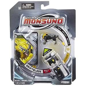 Giochi Preziosi 70145541 Monsuno Starter Pack 1 Driftblade - Figura, núcleo y paquete de 3 cartas