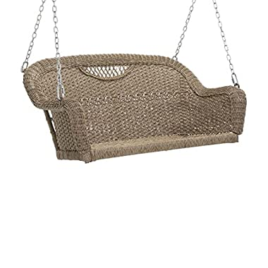 Prospect Hill Outdoor Wicker Swing, Driftwood