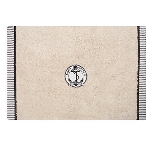Zenna Home, India Ink Beach Cottage Bath Rug, Nautical by ZPC Zenith Products (India Ink Beach Cottage)