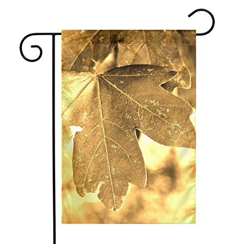 Sunshine Golden Leaf Garden Flags House Indoor & Outdoor Welcome Decorations,Waterproof Polyester Yard Decorative \r\nFor Game Family Party Banner