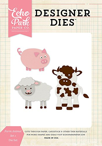 Echo Park Paper Company EPPDIE393 Farm Animals #1 Die Set