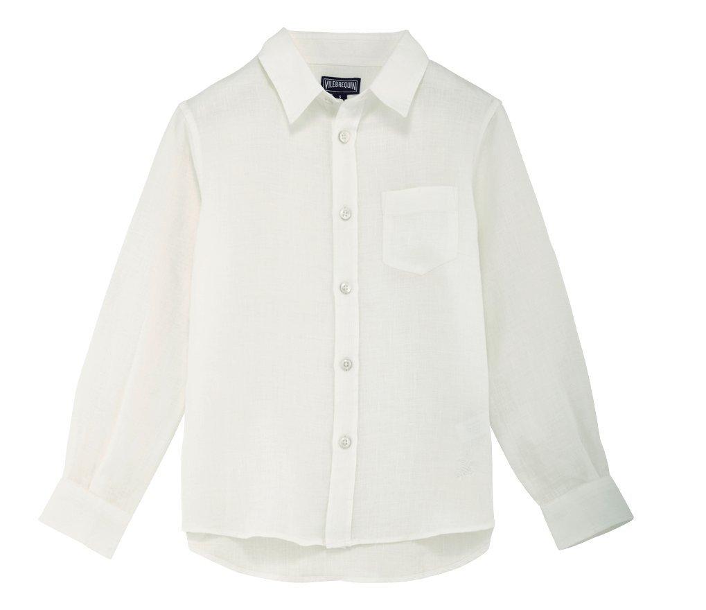 Vilebrequin Classic Linen Shirt - Boys - 10 years - White