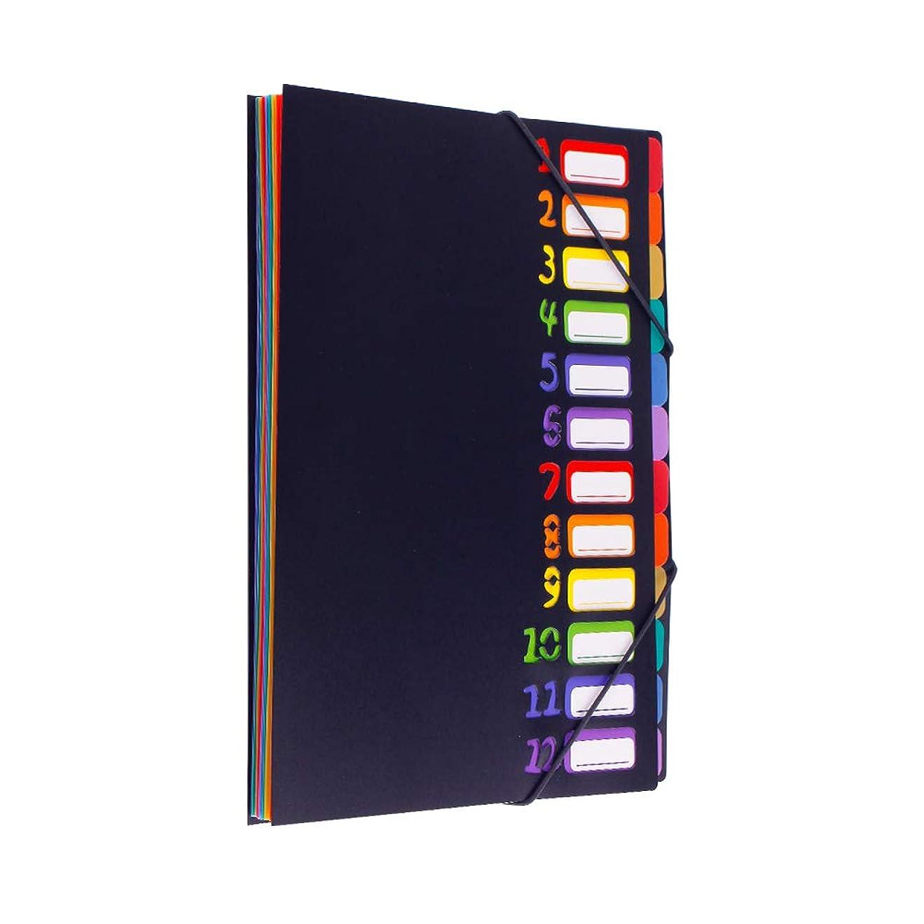 カスタム廃止する更新するドキュメントスタンド A4 書類ケース ファイルボックス 24分類 大容量 耐用 …