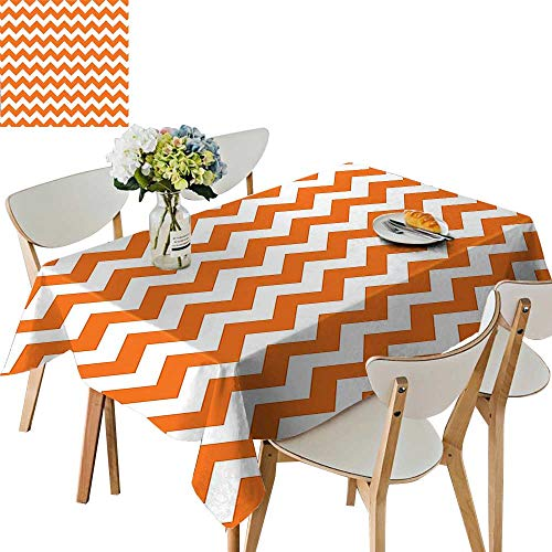 (UHOO2018 Polyester Fabric Tablecloth Square/Rectangle Halloween Pumpkin Color Chevron Traditional Holidays Autumn Celebrate Summer & Outdoor Picnics,23 x)