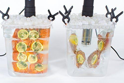 Locisne Sous Vide Kochen B/älle BPA Free 20mm 250 B/älle mit Mesh Trockentasche F/ür Anova Joule Herde Wasser Bad Kochen und Sous Vide Container