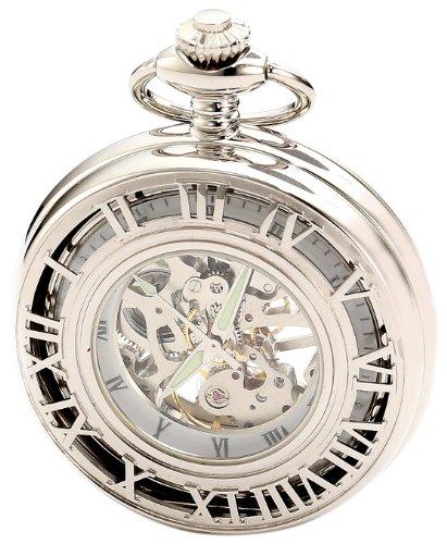 Charles-Hubert-Paris-3928-Classic-Collection-Chrome-Finish-Brass-Mechanical-Pocket-Watch