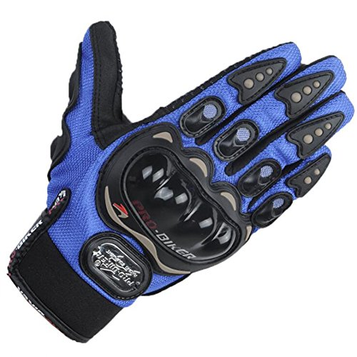 LANPA Motorcycles, racing gloves all refers to off-road summer riding motorcycle anti wrestling gloves (Blue, L)