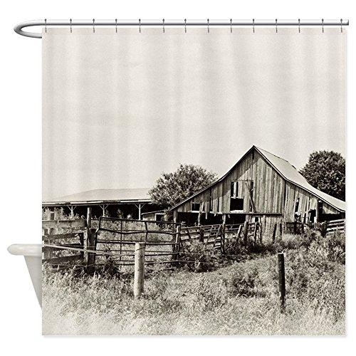 CafePress Iowa Dusty Dirt Road Barn Shower Curtain Decorative Fabric Shower Curtain (69