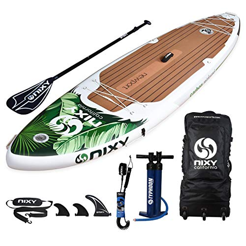 NIXY Newport SUP Inflatable Stand Up Paddle Board. All Around Lightweight iSUP Built with Dual Layer Fusion Dropstitch. All Accessories Included Paddle, Leash, Pump, Should Strap, Carry Bag]()