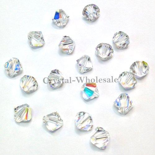 36 pcs Swarovski crystal 5328 / 5301 8mm Crystal Aurore Boreale (001 AB) Genuine Loose Bicone Beads