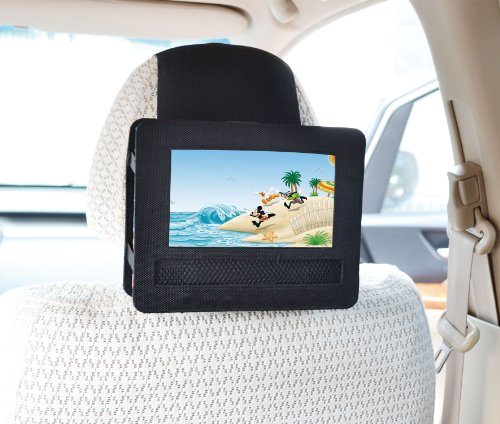 TFY Mount-DVD-7 Car Headrest Mount for Swivel and Flip Style 7-Inch Portable DVD Player