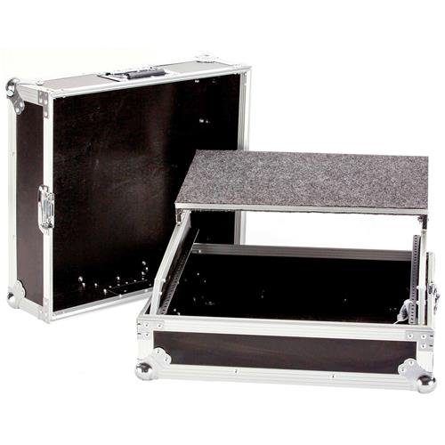 Deejay LED Fly Drive 10U Space 19'' Mixer Case with Laptop shelf